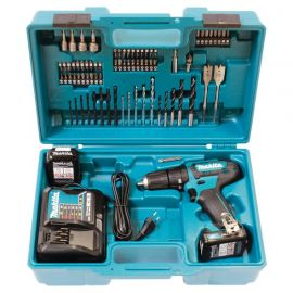 Makita HP333DWAX1 12V Combi Drill includes 2 x 2Ah Batteries and Accessory Set